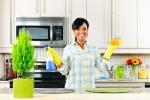 woman clean